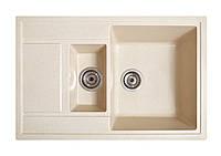 Кухонна мийка гранітна Galati Jorum 78D Avena (501) 3341 авена, фото 1