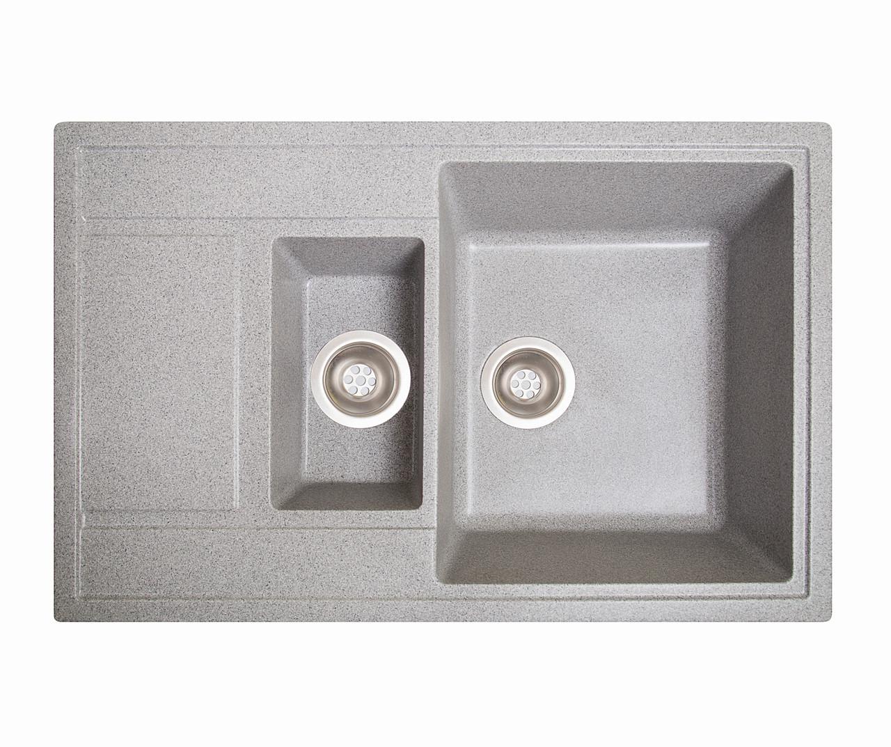 Кухонна мийка гранітна Galati Jorum 78D Seda (601) 3343 сірий