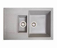Кухонна мийка гранітна Galati Jorum 78D Seda (601) 3343 сірий, фото 1