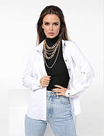 Жіноча сорочка стильна, тканина: софт, однтонная з довгим рукавом(42-48), фото 1