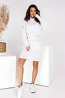 Женское платье, ткань - ТКАНЬ ТРИКОТАЖ, теплое с карманами длинным рукавом(с-л), фото 1