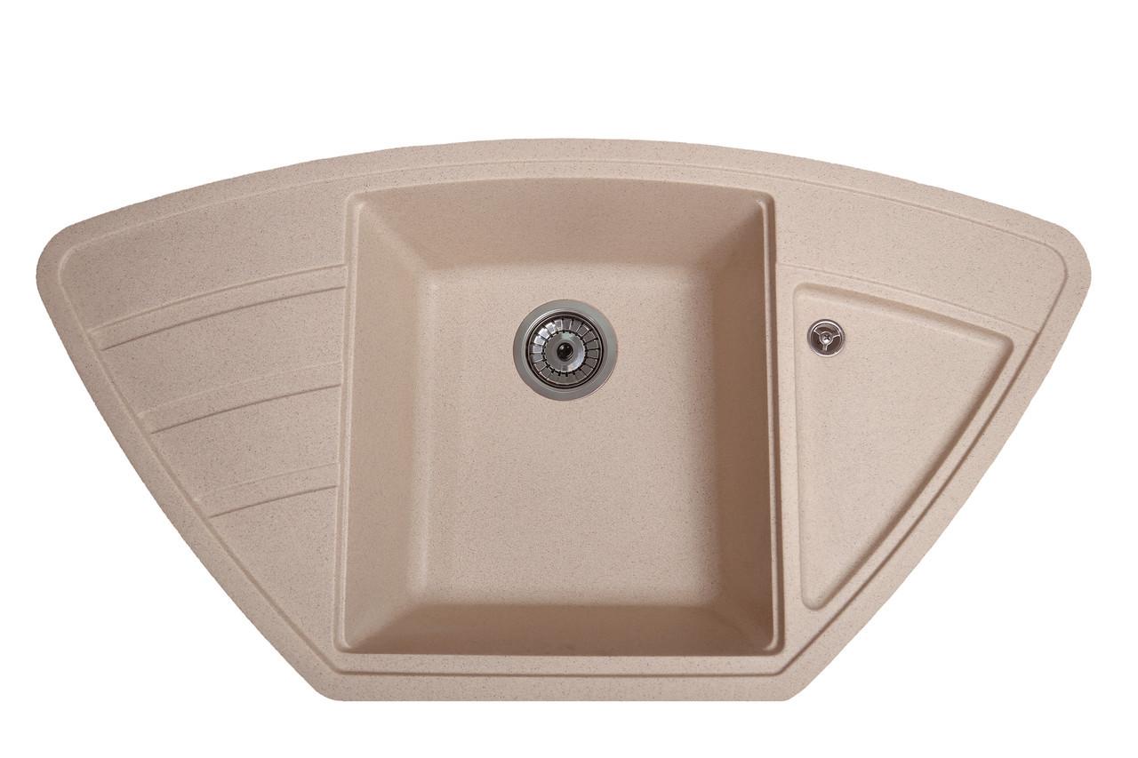 Кухонна мийка гранітна Galati Jorum 98B Piesok (301) 3347 пісочний
