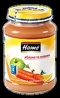 Пюре фруктово-овощное яблоко и морковь Hame, 190г