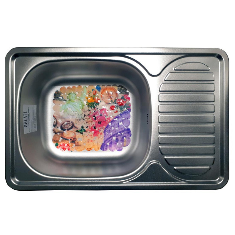 Кухонна мийка стальна Galati Mirela Textura 7136