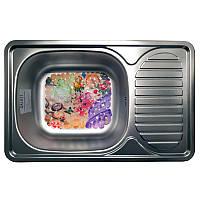 Кухонна мийка стальна Galati Mirela Textura 7136, фото 1