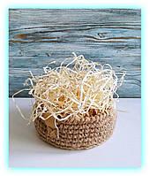 Декоративная древесная стружка упаковочная для подарков декора. Шерсть наполнитель для коробок (500 г.) Сосна