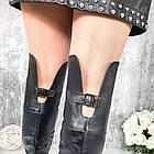 Демисезонные женские черные ботфорты, натуральная кожа, фото 7