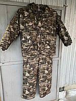 Зимовий костюм для полювання та риболовлі непромокальний ЗИМОВИЙ ЛІС