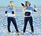 """Женский тёплый спортивный костюм до больших размеров 1162 """"Томми Трёхцвет"""", фото 2"""