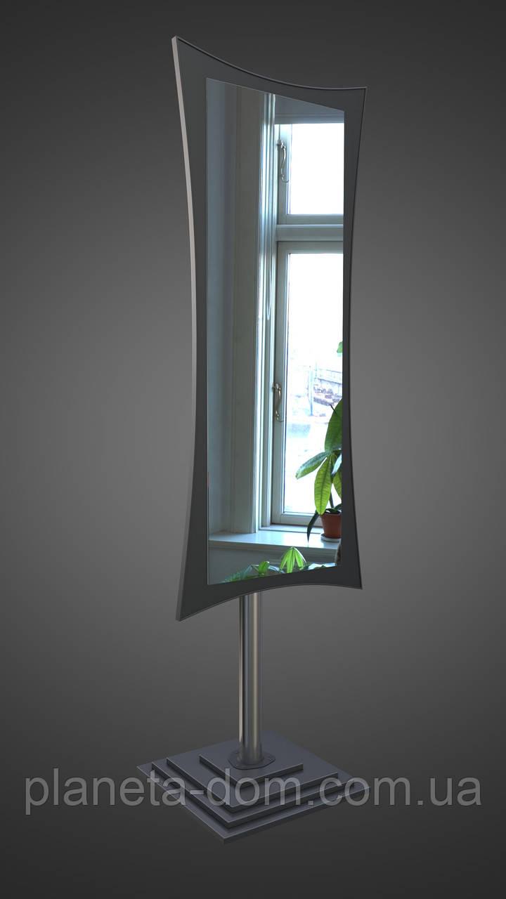 Підлогове дзеркало, чорне