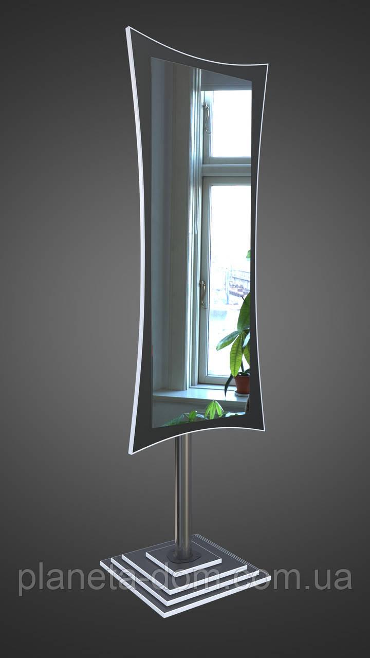 Зеркало напольное на ножке чёрно-белое