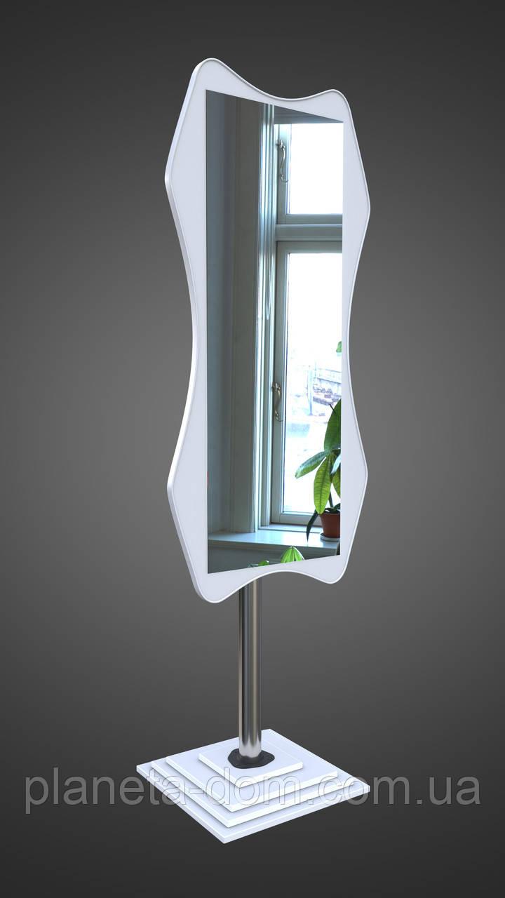 Напольное зеркало в белом цвете