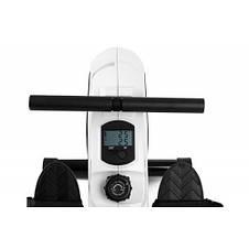 Тренажер для веслування магнітний, гребний тренажер для дому Hop-Sport HS-060R Cross white, фото 3