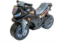 Детская каталка-мотоцикл Орион 501, беговел 2-х колесный Черный