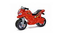 Детская каталка-мотоцикл Орион, беговел 2-х колесный Красный