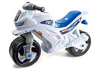 Детская каталка-мотоцикл Орион, беговел 2-х колесный Белый