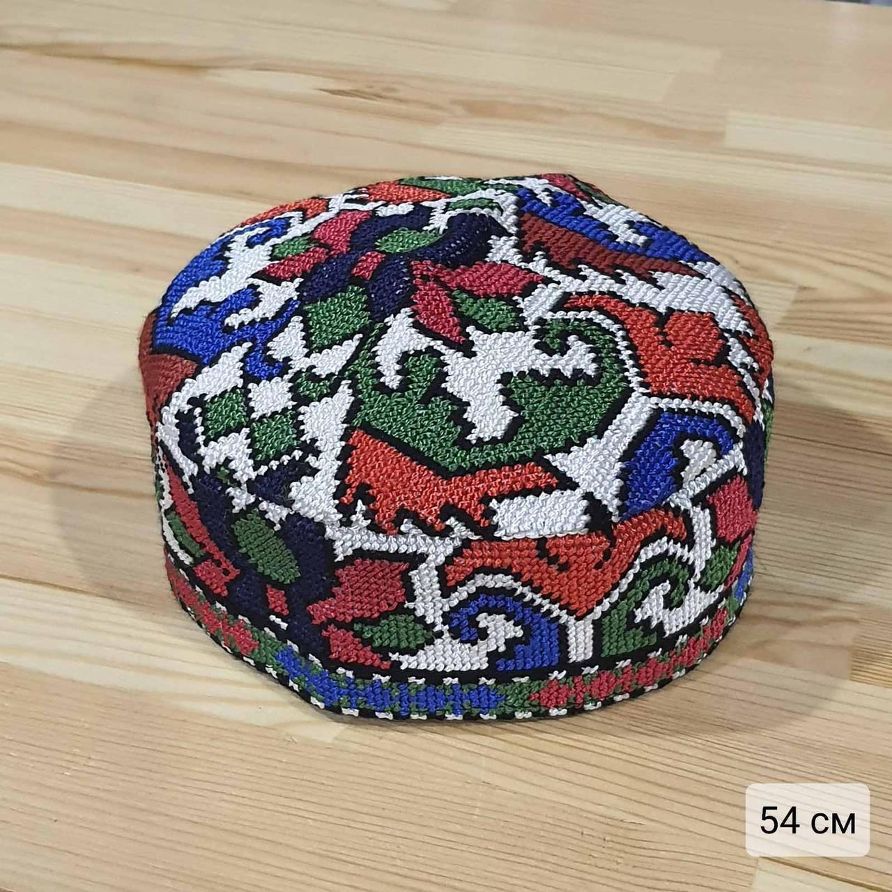 Узбекская тюбетейка 54 см. Ручная вышивка. Узбекистан (54_10)