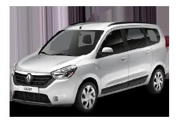 Накладки на пороги для Renault (Рено) Lodgy 2012+