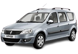 Накладки на пороги для Renault (Рено) Logan MCV 1 2006-2012