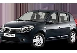 Накладки на пороги для Renault (Рено) Sandero 1 2007-2012