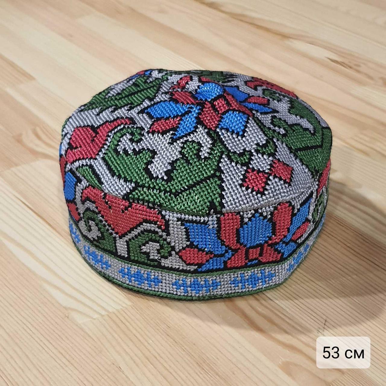 Узбекская тюбетейка 53 см. Ручная вышивка. Узбекистан (53_5)