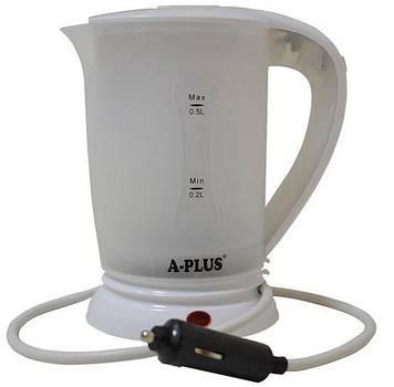 Електрочайник автомобільний A-plus 12V 1518 Білий (006332)