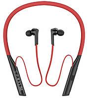 Беспроводные наушники с микрофоном вакуумные bluetooth наушникидля спорта HOCO Mirth sports ES33 Красный