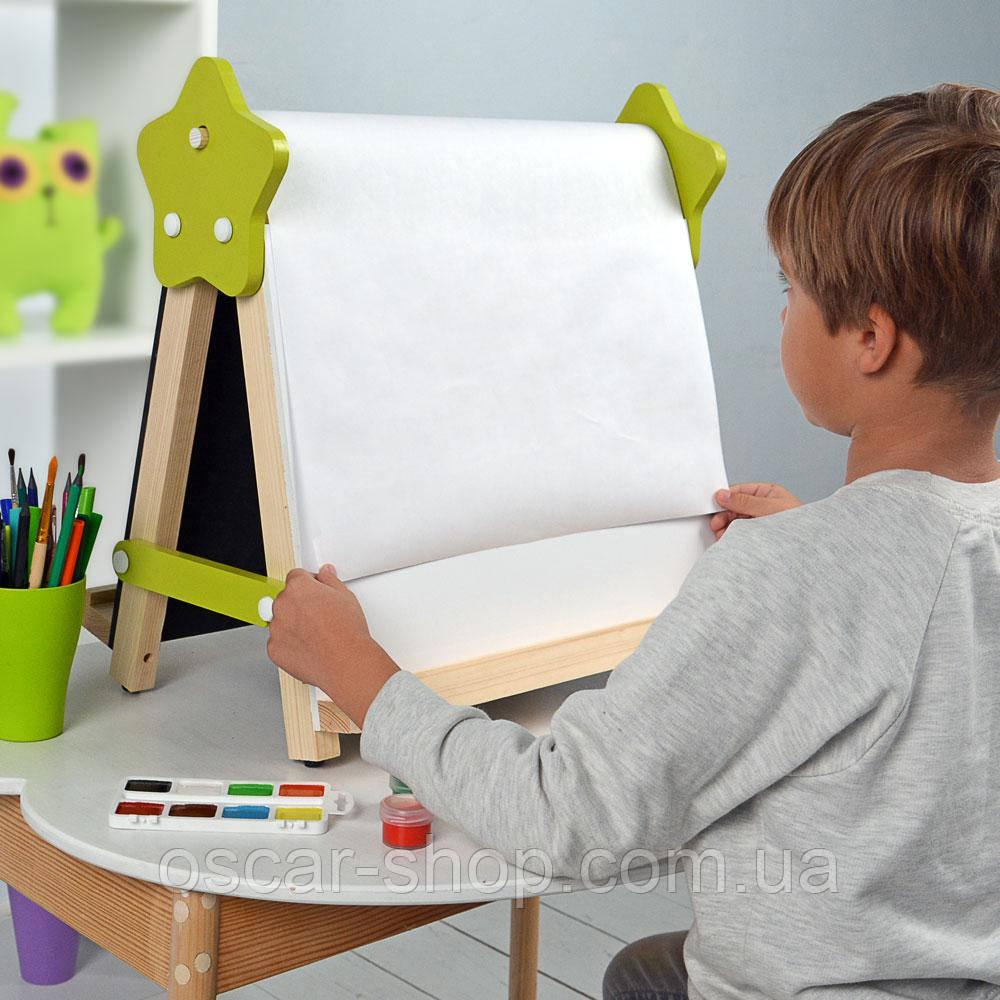 Мольберт настольний для творчості та навчання «5в1» Люмик. Малюємо світлом,крейдою, маркерами