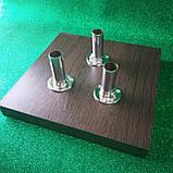 Підставка 28х28см для декору молочний дуб ДСП на 3 штиря, фото 3