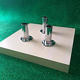 Підставка 28х28см для декору молочний дуб ДСП на 3 штиря, фото 2