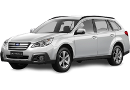 Накладки на пороги для Subaru (Субару) Outback 4 (BM) 2009-2014