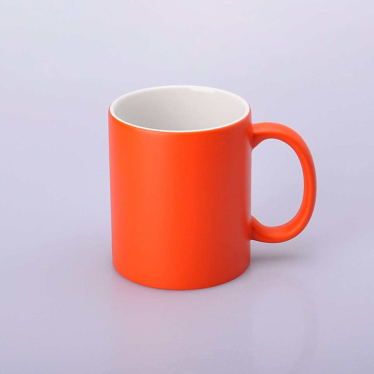 Чашка для сублимации хамелеон ПОЛУГЛЯНЕЦ (оранжевый)