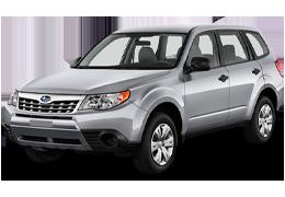 Накладки на пороги для Subaru (Субару) Forester 3 2007-2012