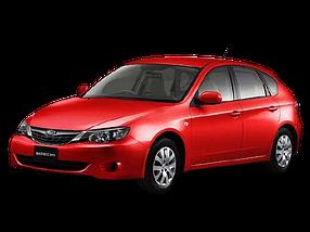Накладки на пороги для Subaru (Субару) Impreza 3 2007-2011