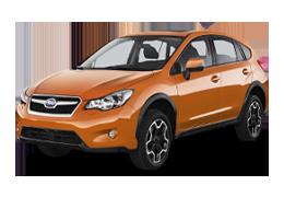 Накладки на пороги для Subaru (Субару) XV 1 2011-2017