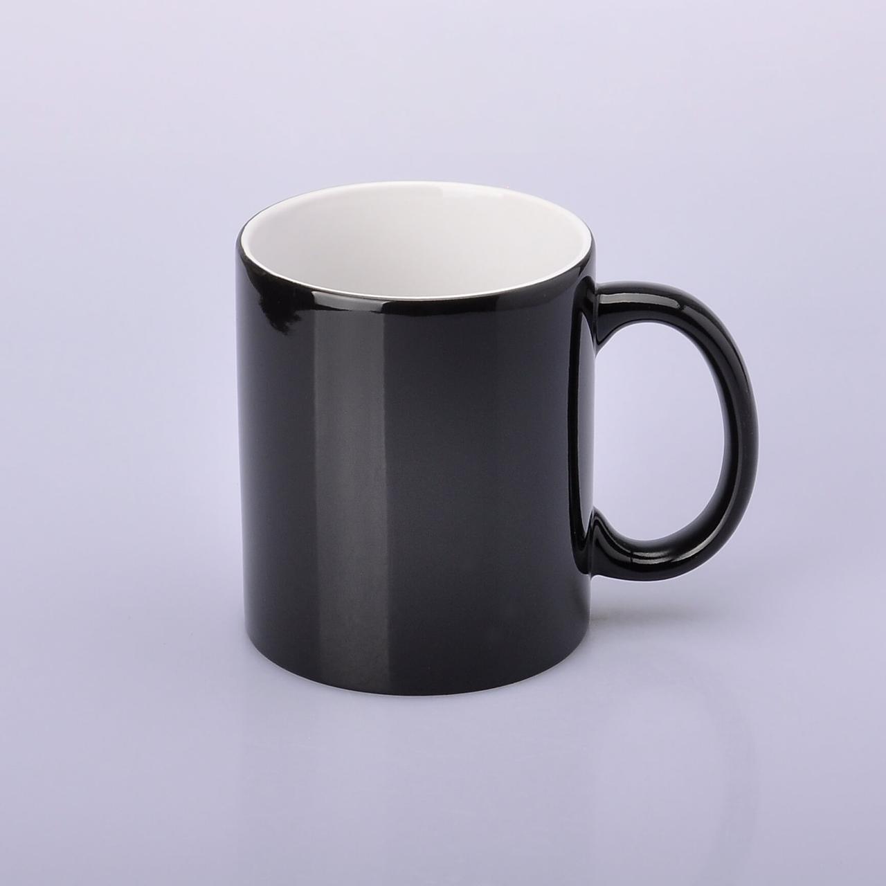 Чашка для сублимации хамелеон ГЛЯНЕЦ (черный)