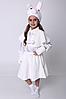 Детский новогодний костюм Зайчик для девочки