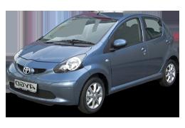 Накладки на пороги для Toyota (Тойота) Aygo 1 (AB10) 2005-2014