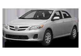 Накладки на пороги для Toyota (Тойота) Corolla 10 2006-2013