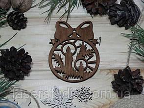 Деревянная ноговодняя игрушка Тонированная Свечи с Бантиком №52-1