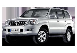 Накладки на пороги для Toyota (Тойота) LC Prado 120 2002-2009
