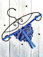 Сексуальное белье кружевной комплект с вырезами Синий. Размеры от XS до XXL, фото 2