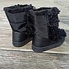 Черные Унты Угги ботинки высокие каракуль с мехом наверху зимние на платформе, фото 5