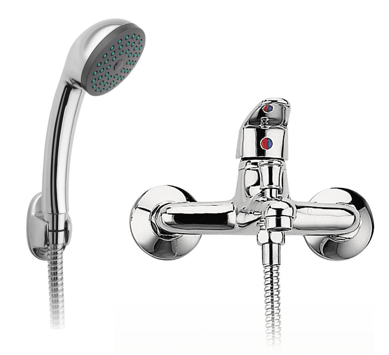 Смеситель для ванны с душевым гарнитуром Ferro Smile BSM11 хром