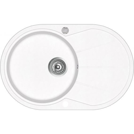 Кухонна мийка гранітна AquaSanita Clarus SR-101AW-710 білий