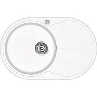 Кухонна мийка гранітна AquaSanita Clarus SR-101AW-710 білий, фото 1