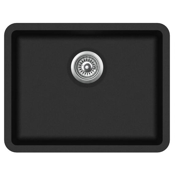 Кухонная мойка гранитная AquaSanita Arca SQA-102-601 черный металлик