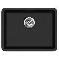 Кухонная мойка гранитная AquaSanita Arca SQA-102-601 черный металлик, фото 1