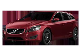 Накладки на пороги для Volvo (Вольво) V60 I 2010-2018