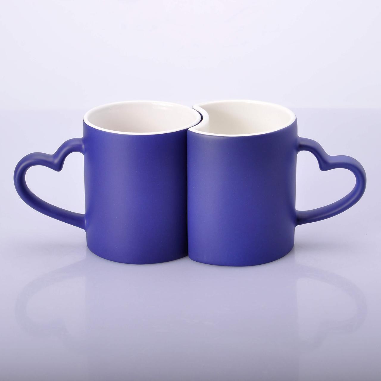 Чашка хамелеон Love парная (синий)